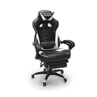 RESPAWN-110 - Silla reclinable de Piel ergonómica con reposapiés, Silla de Oficina o
