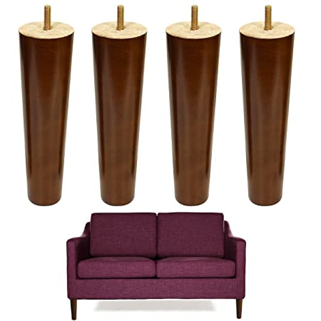 Super 8 Inch Wood Sofa Legs M8 Screw Furniture Feet Replacement Download Free Architecture Designs Terchretrmadebymaigaardcom