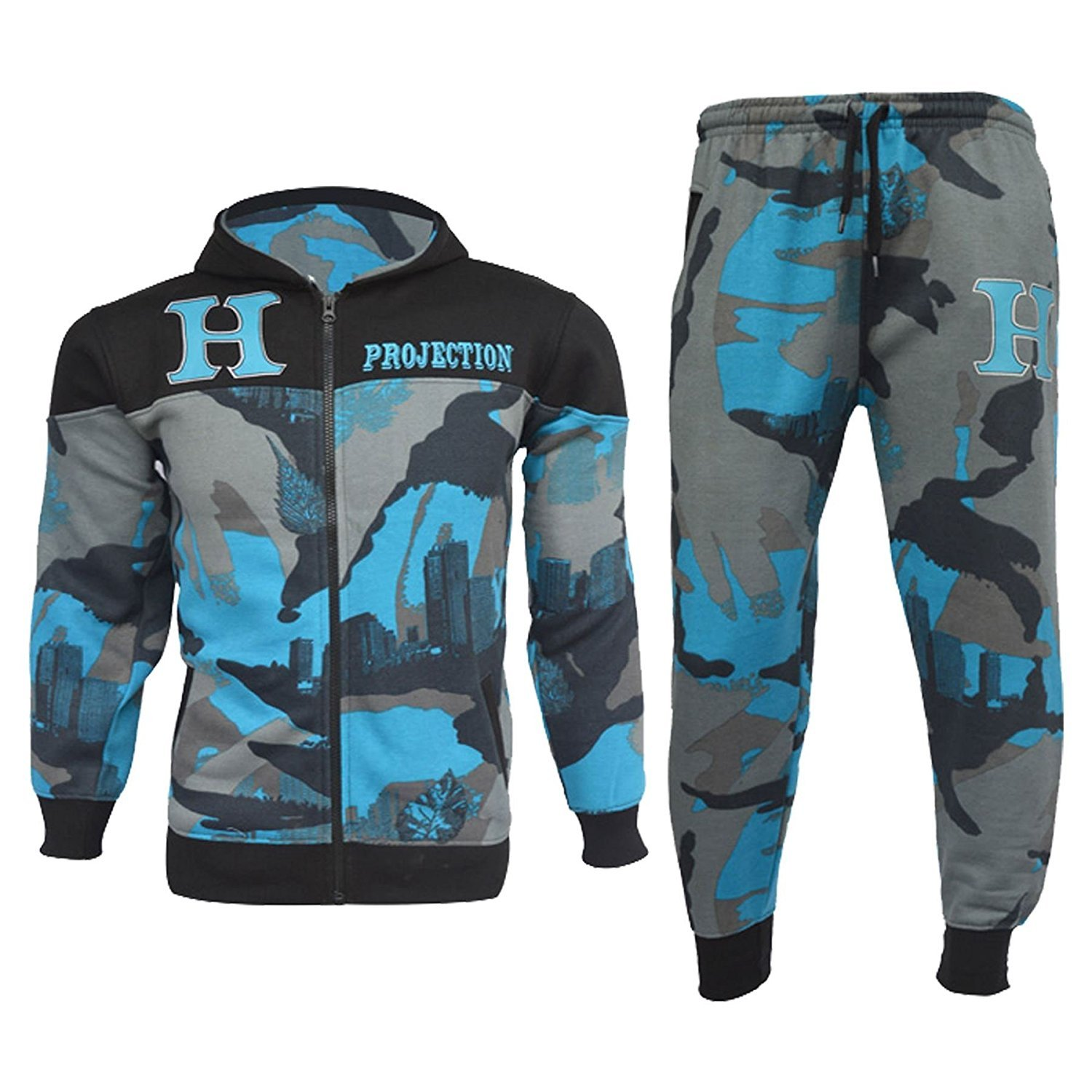Star Trendz Kids Tracksuits Boys Girls HNL Projection Print Hoodie & Bottom Joggers Suit New Age 7-13 2015907
