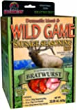 Hi-Country Snack Foods Domestic Meat and WILD GAME 22.06 oz. Wisconsin Style Bratwurst Home Made Dinner Style Sausage Spice Kit-No MSG