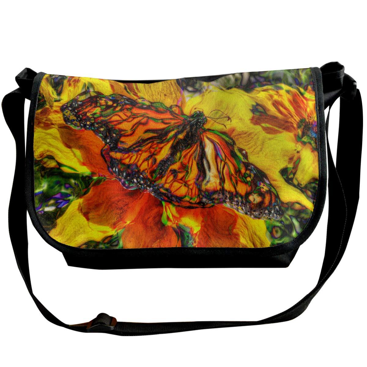 XIANGXIANG SHOP Van GOH Style Butterfly Fashion Unisex Casual Popular Outdoor Sling Bag Messenger Bag Shoulder Bag