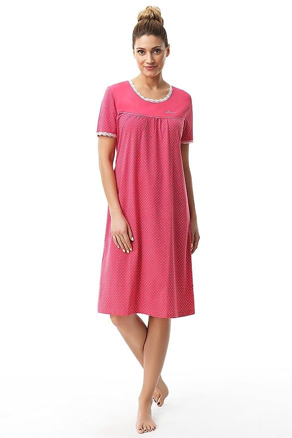 e.FEMME Damen Nachthemd Dolly 1658 aus Baumwolle