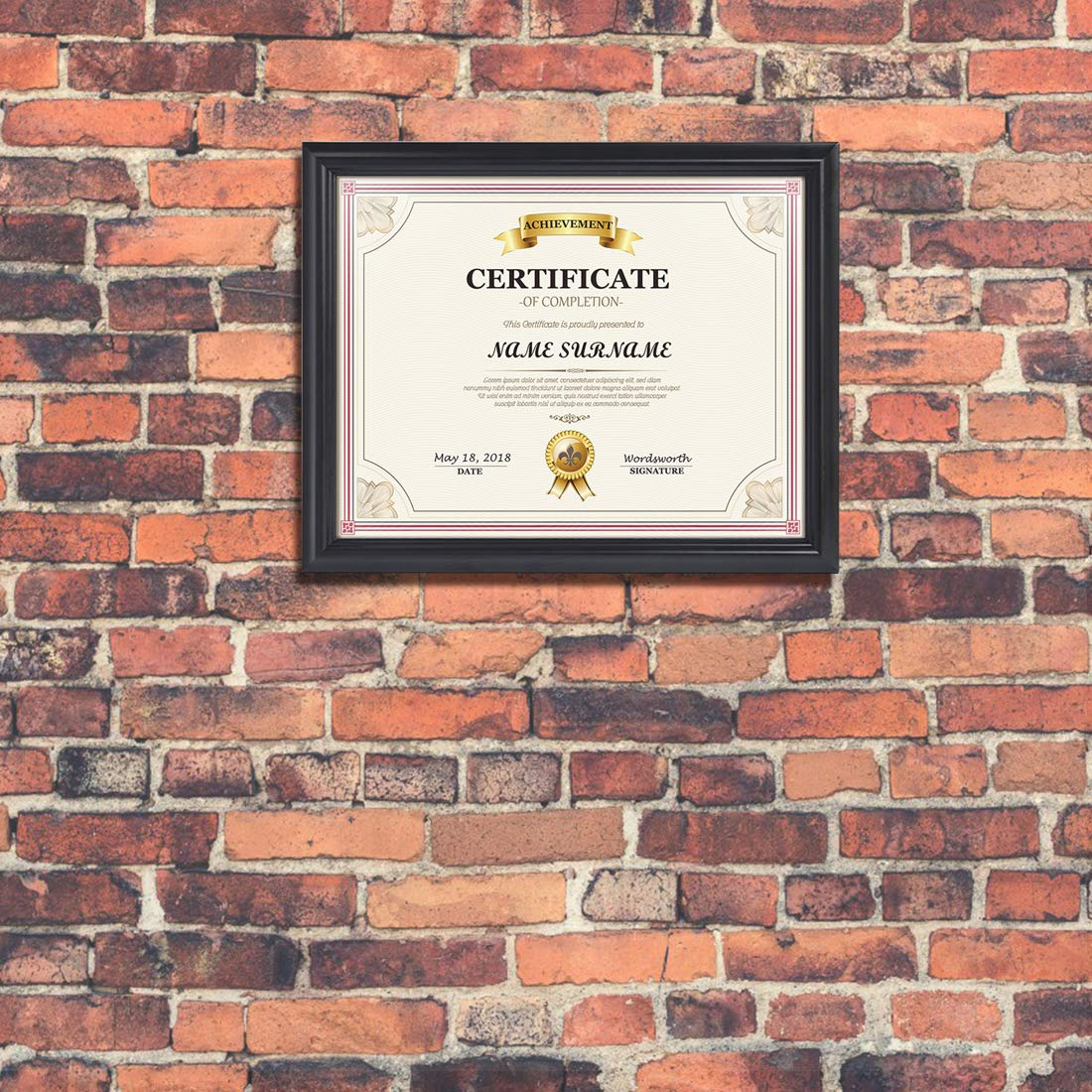 Artsay 8.5x11 Document Certificate Diploma Frame Black Picture Frames 8.5 x 11, Wall and Tabletop Display, 4 Pack by Artsay (Image #8)