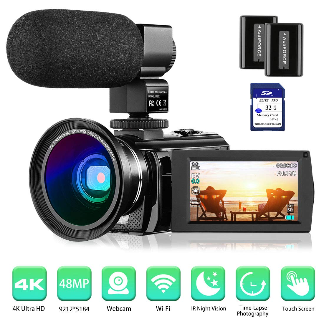 Rosdeca 4K Camcorder Video Camera