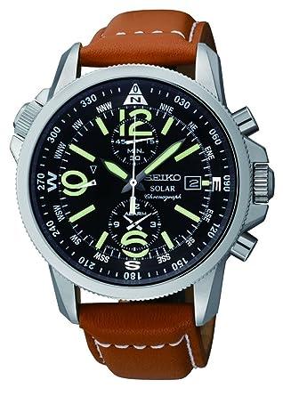 d0bb386f2a6 Amazon.com  Seiko Men s SSC081 Adventure-Solar Classic Casual Watch ...