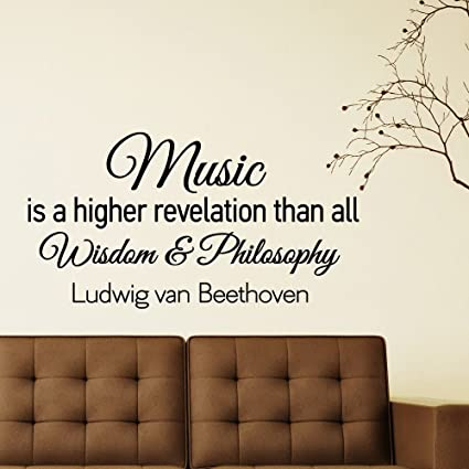 Music Wall Decals Quotes Vinyl Lettering Music Is A Higher