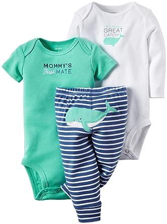 66fda3d60888 Amazon.com  Carter s Baby Boys  3 Piece Set-Whale  Clothing