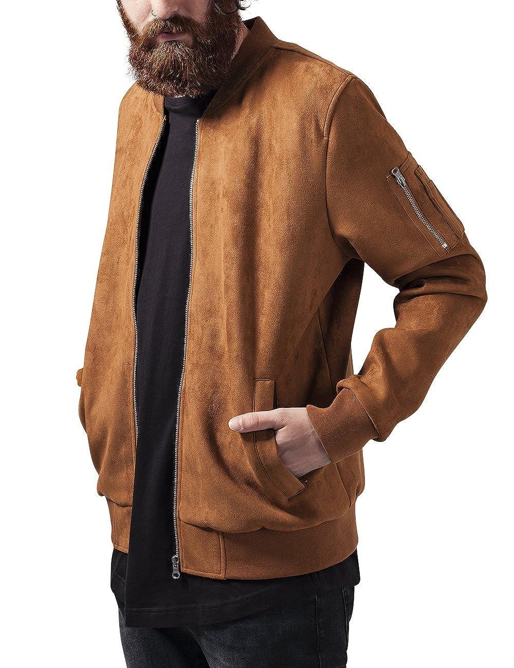 Urban Classics Imitation Suede Bomber Jacket Chaqueta para ...