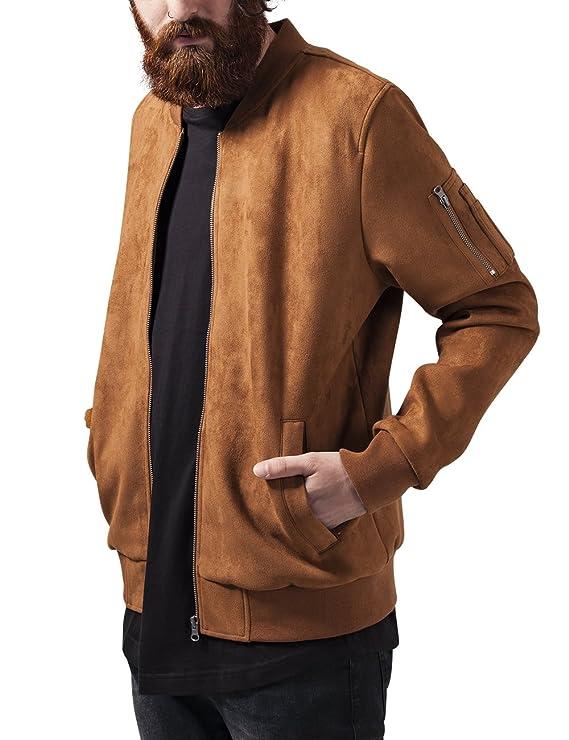 Urban Classics Imitation Suede Bomber Jacket Giacca Uomo  Amazon.it   Abbigliamento 7656abed363