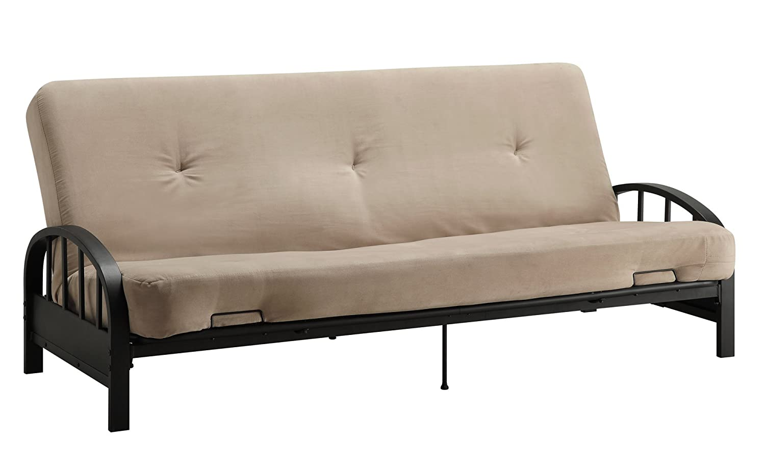 Amazon.com: DHP Aiden Futon Metal Frame, Converts Easily to a Full ...