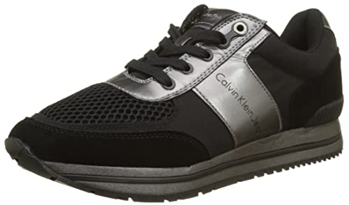 Calvin Klein Estez Suede/Nylon/Metal Smooth, Zapatillas para Hombre: Amazon.es: Zapatos y complementos