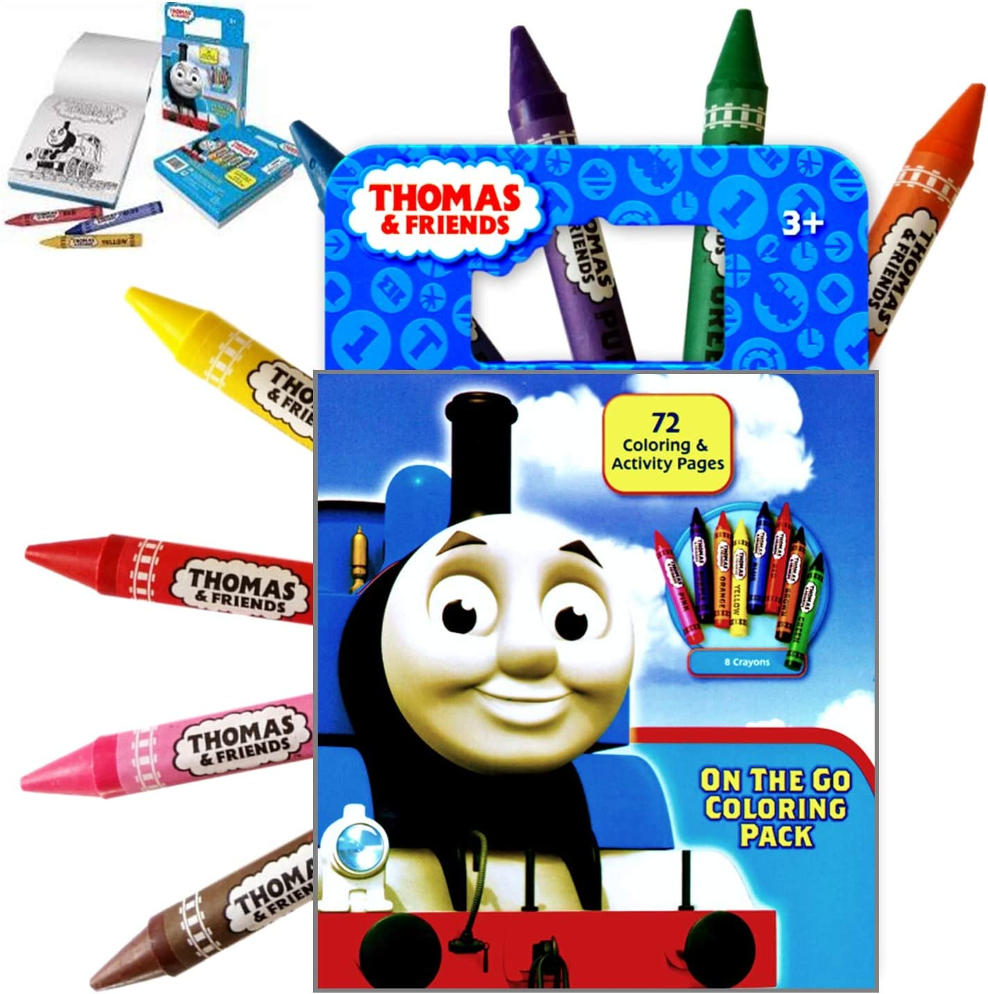 Thomas the Train Activity Coloring Book with Colorful Large Jumbo Crayons