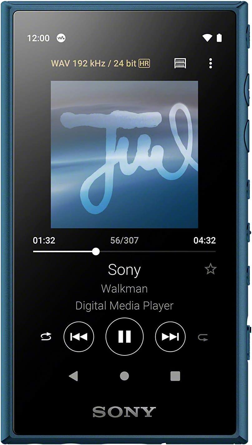 Sony NWA105L.CEW - Reproductor de Audio Walkman (16GB, Hi-Res Audio, Wi-Fi, Bluetooth, Pantalla táctil de 3.6