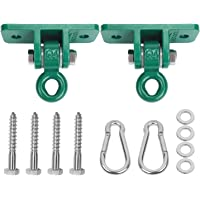 BETOOLL 2400 lb Capacity Heavy Duty Swing Hangers for Wooden Sets Playground Porch Indoor Outdoor & Hanging Snap Hooks, BET-HW9015-1, Green