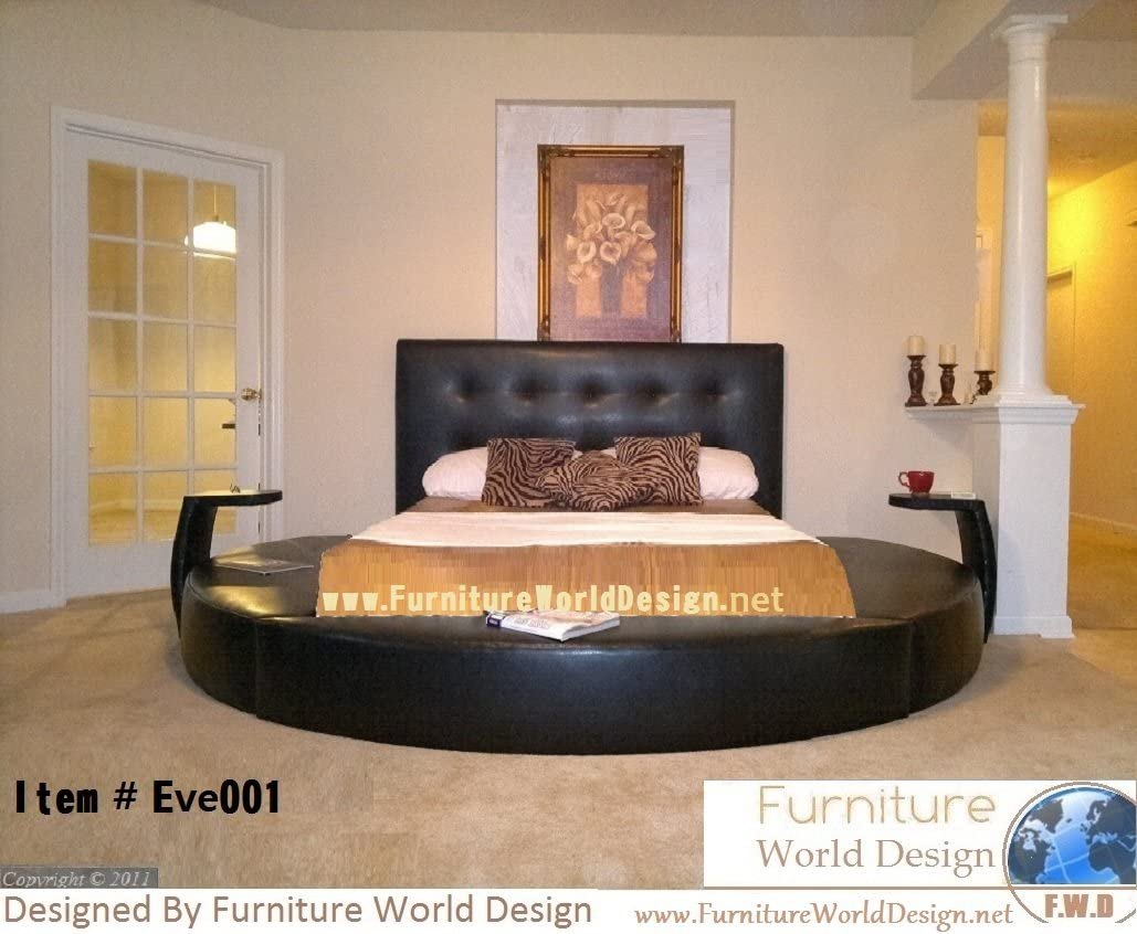 Queen Size Round Bed with 8 Night Stande