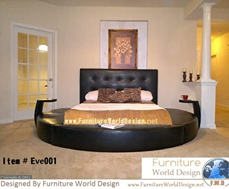 Queen Size Round Bed with 2 Night Stande