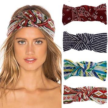 Amazon.com: Diademas Boho para mujer con nudo y turbante: Beauty