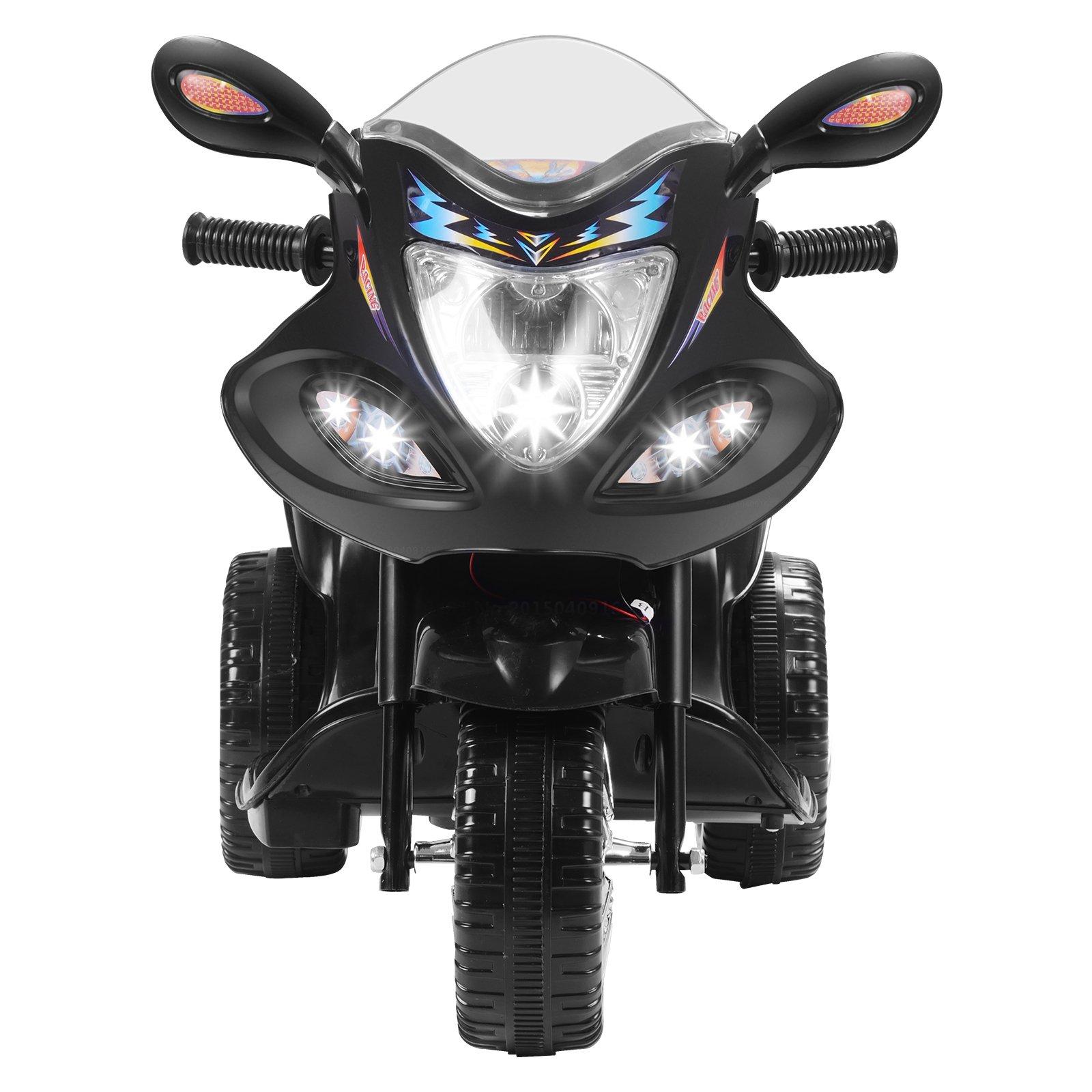 Uenjoy Murtisol Kids Ride on Motorcycle 6V Electric Motorcycle 2 Wheels Black by Uenjoy (Image #4)