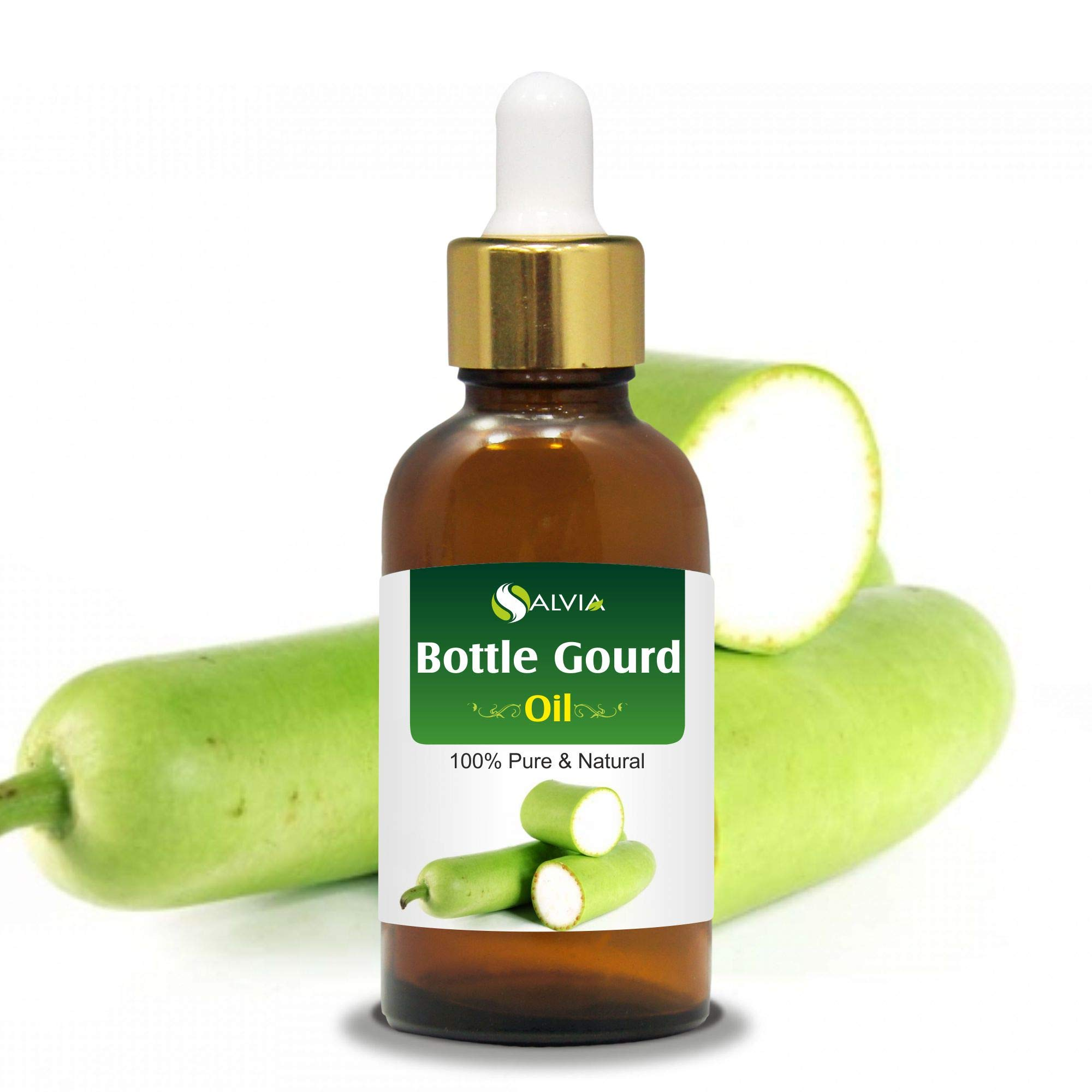 Bottle Gourd Oil (LAGENARIA SICERARIA) 100% Natural Pure Carrier Oil (100ml with Dropper)