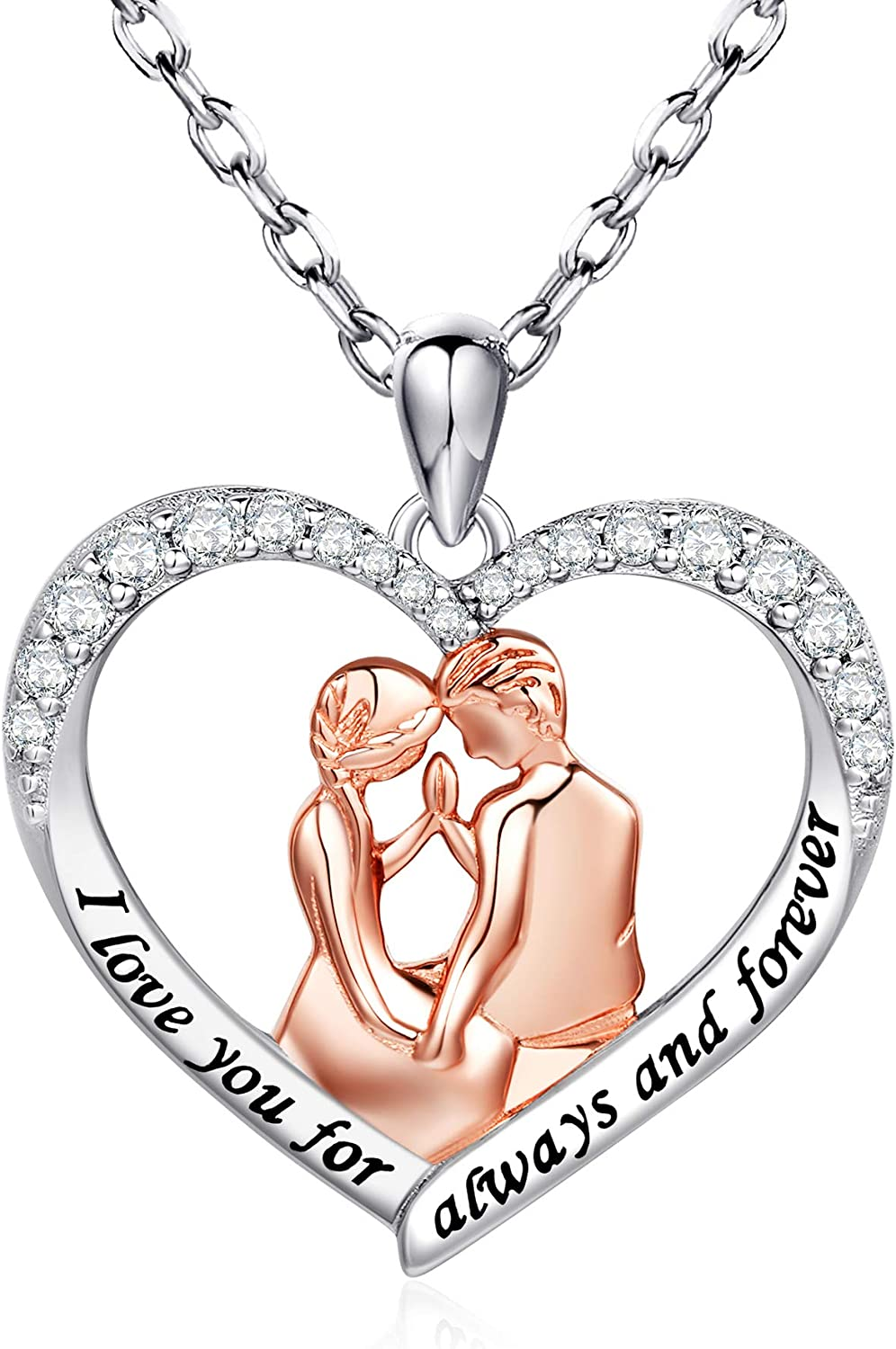 Valentines Gift Pendant Initial Jewellery Cute Puppy Sterling Silver Necklace Gift for Her