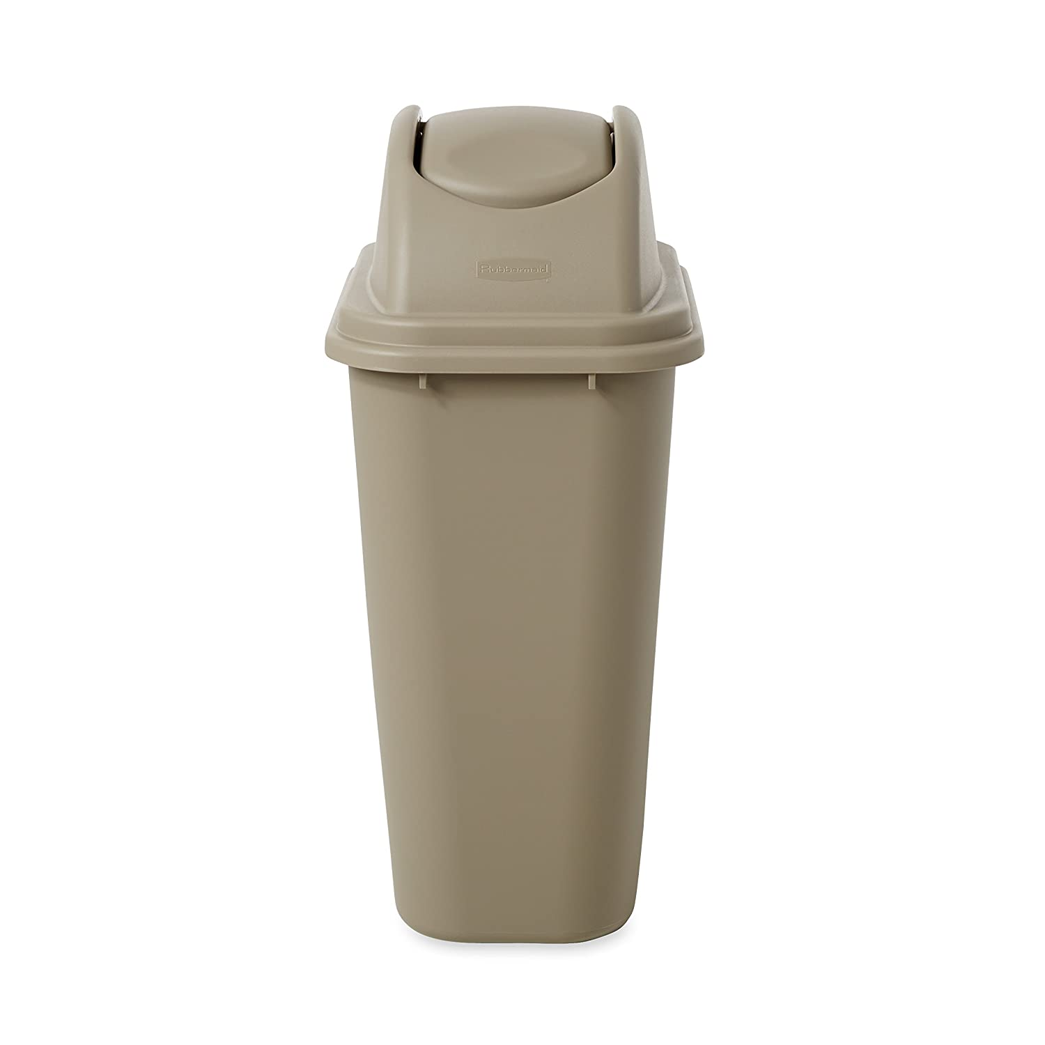 Amazon: Rubbermaidmercial Untouchable Top And Large Soft Trash Can Bo Pack, 1031 Gallon, Beige: Industrial & Scientific
