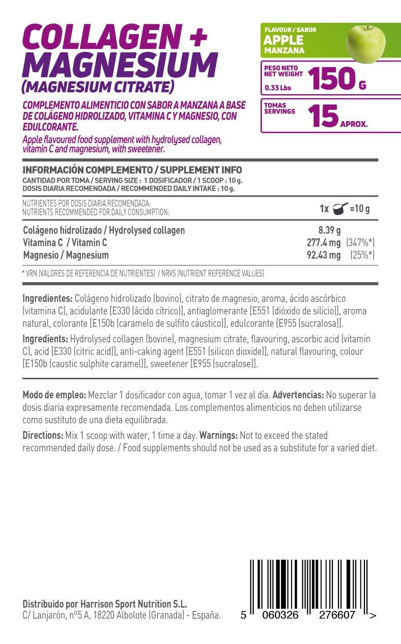 HSN Essentials - Colágeno Hidrolizado + Magnesio 2.0 - Sabor Manzana - En Polvo 150 g: Amazon.es: Alimentación y bebidas