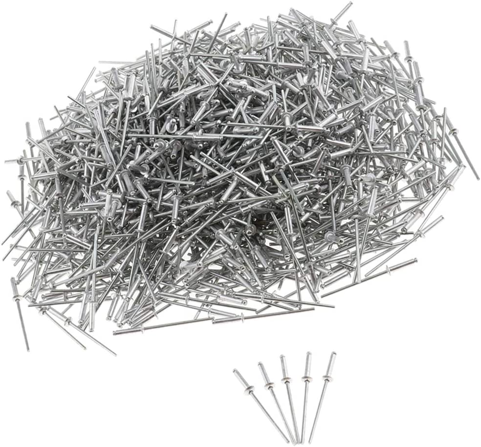 Silber 2.4x7mm 1000 St/ück Blindniete aus Edelstahl Blind Popnieten Niet Verschluss N/ägel Durchmesser 2,4mm