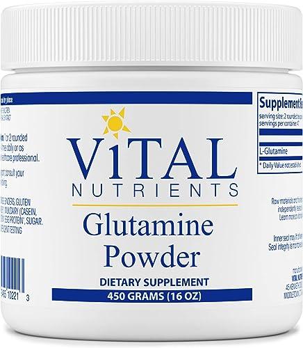 Vital Nutrients – Glutamine Powder – Gastrointestinal and Immune Support – Vegetarian – 450 Grams