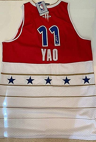online store d9799 e2434 Autographed Yao Ming Jersey - Reebok 2006 All Star Game ...