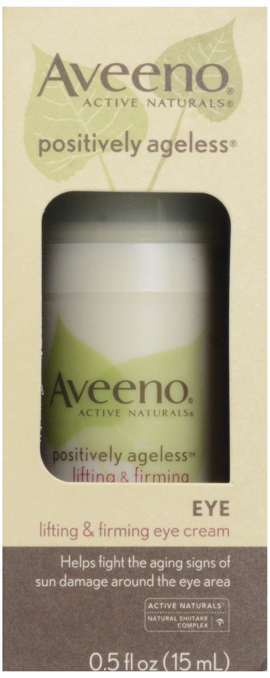 Aveeno, Facial Moisturizers Positively Ageless Lifting Firming Eye Cream, 0.5 oz