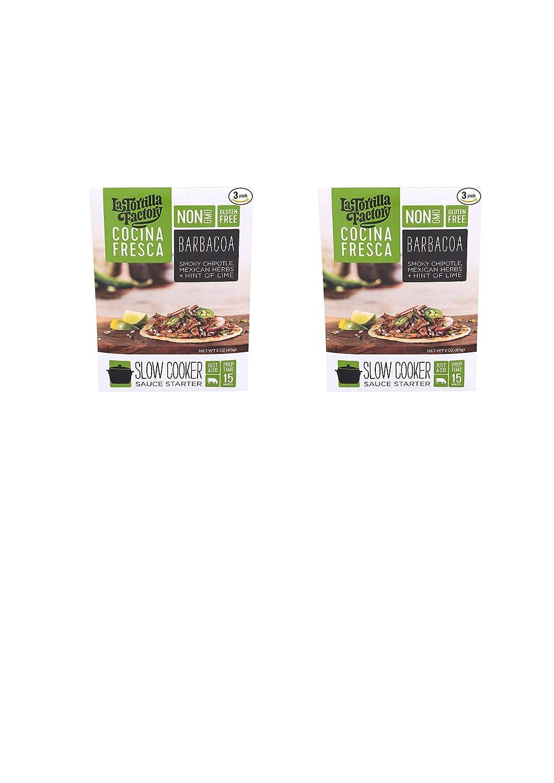 Amazon.com : La Tortilla Factory Cocina Fresca Barbacoa Slow Cooker Sauce Starter, 3oz (Pack of 3) (9 pack) : Grocery & Gourmet Food