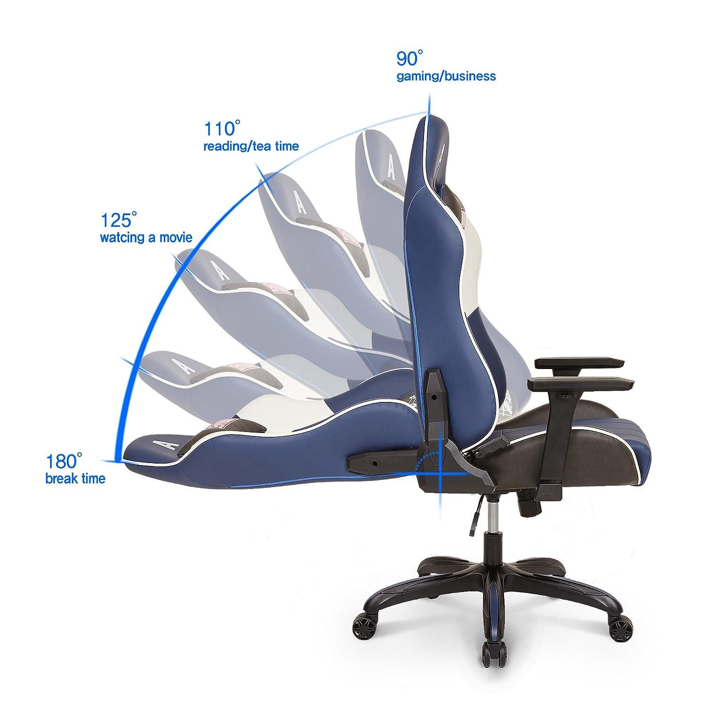 Marvel - Capitán América de Los Vengadores superhéroe ergonómico giratorio de espalda alta silla de escritorio Ejecutivo de oficina en casa ordenador Video ...