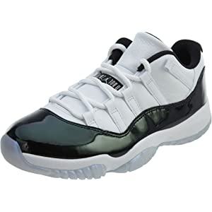 e8886ad1fdf Jordan Air 11 Retro Low Men s Basketball Shoes White Emerald Rise Black  528895-