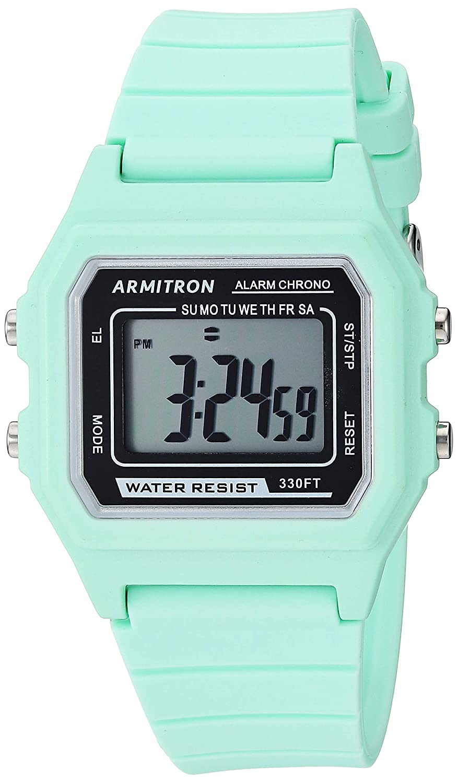 Armitron Sport Unisex Digital Chronograph Silicone Strap Watch, 40 8447