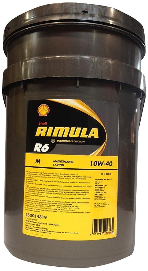 SHELL 1030020 Rimula R6 M 10W-40 Aceites de motor para coches, 20 Litros