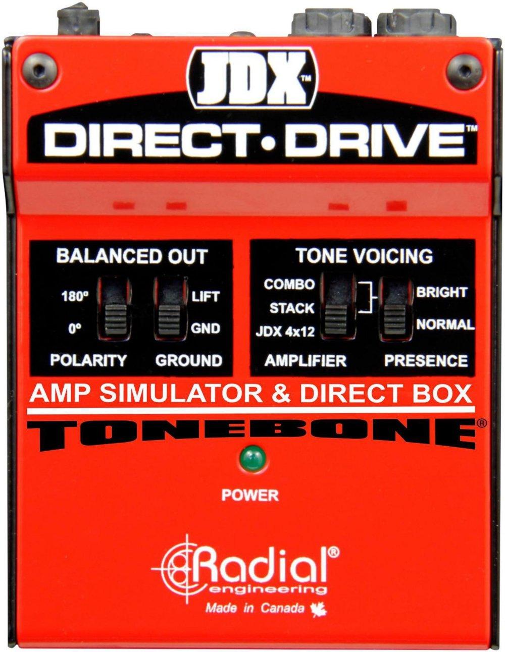 Radial JDX Direct-Drive Amp Simulator and DI Box R800 1404