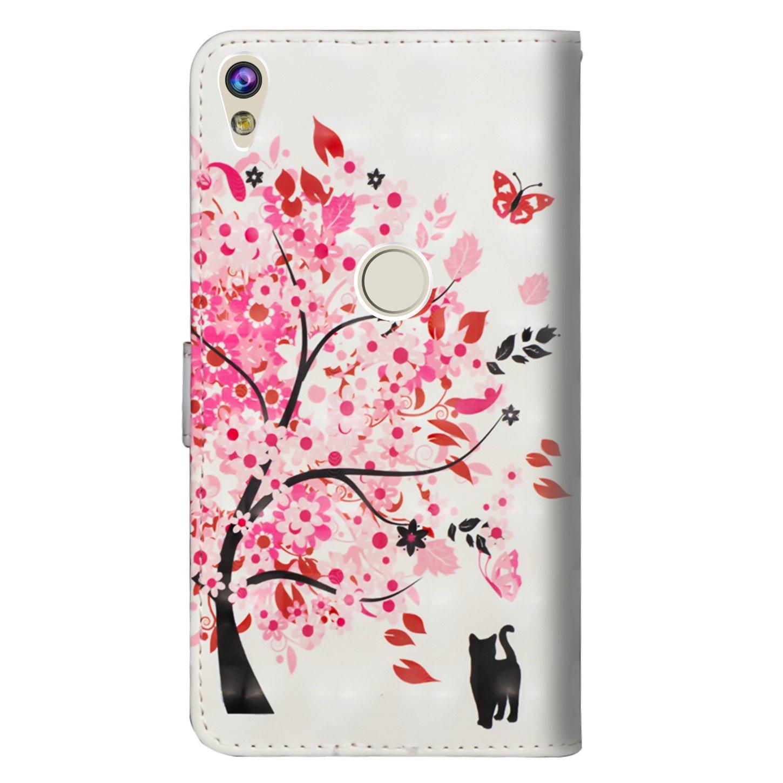 Standfunktion Flip Wallet Case Cover Kletternder Bambuspanda Premium PU Leder Schutztasche Klappetui Brieftasche Handyh/ülle sinogoods F/ür Alcatel Shine Lite H/ülle
