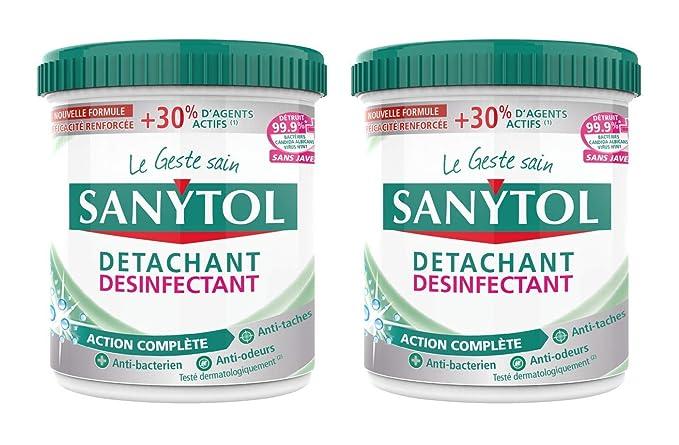 Sanytol polvo quitamanchas desinfectante – Juego de 2: Amazon.es ...