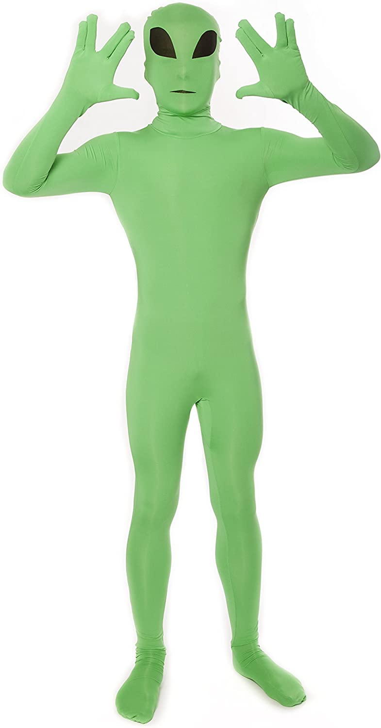 "Glow Alien Kids Morphsuit Fancy Dress Costume - size Small 3'-3'5"" (91cm - 104cm)"