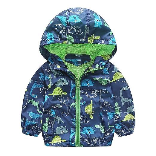 51dae74e5 Moonper Kid Infant Toddler Baby Boys Girls Winter Dinosaur Hooded Zip Coat  Cloak Jacket Thick Warm