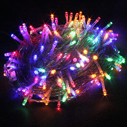 Yosion 100 1000 led string fairy lights on clear cable with 8 light effects