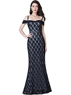f27838109faa Ever Pretty Women's Off The Shoulder Sweetheart Neckline A Line Long Lace  Evening Dresses 07332