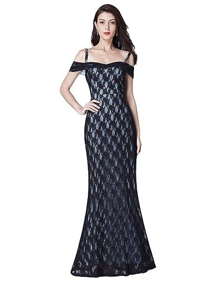 1c7d044016ba Ever Pretty Women s Elegant A Line Floor Length Off The Shoulder Formal  Dresses Black 8UK