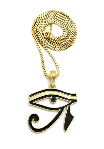 New eye of ra pendant 24 boxcubanrope chain hip hop necklaces new eye of ra pendant 24quot boxcubanrope chain hip hop aloadofball Images