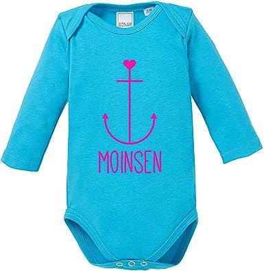 EZYshirt Moinsen Anker Baby T-Shirt Longsleeve Bio Baumwolle Moin Moin Hamburg