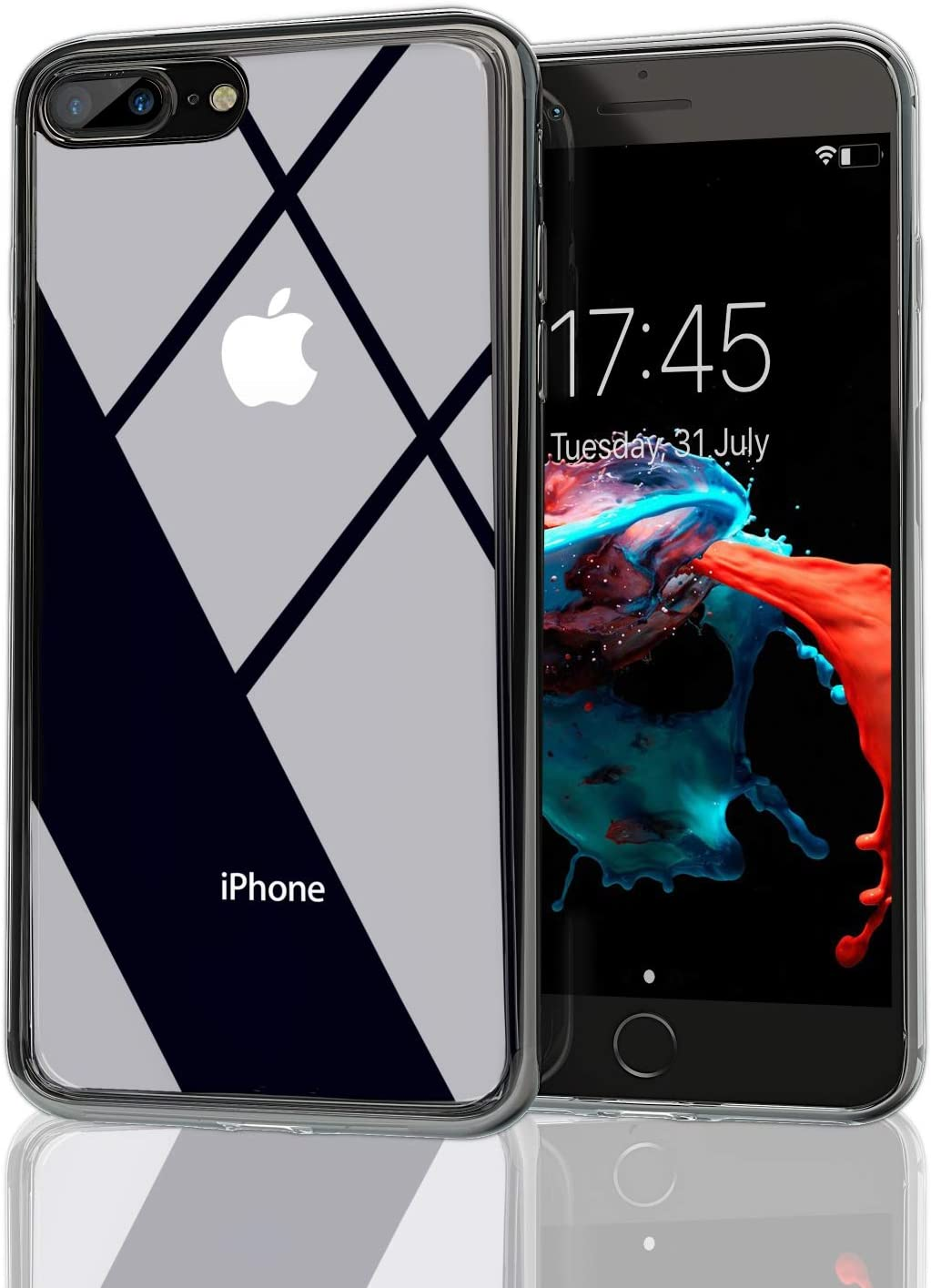 Nicexx iPhone 7 Plus Case   iPhone 8 Plus Case   Transparent Clear Case   Soft TPU Bumper Drop Protection   Wireless Charging   Compatible with iPhone 7 Plus /8 Plus