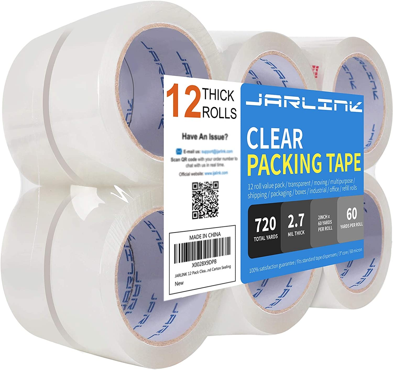 Packaging Moving Grizzly Brand Clear Packing Tape Refill Rolls for Shipping