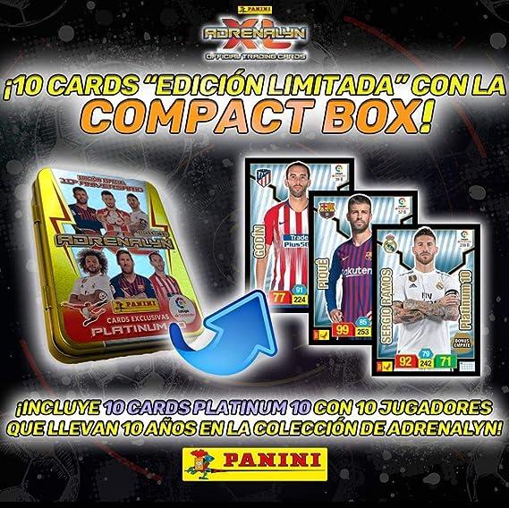 Panini 003714TINSE Compact Box 10 Years Adrenalyn 2018-2019: Amazon.es: Juguetes y juegos