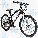"Muddyfox Prevail 24"" Boys Hardtail Mountain Bike - Black and White - NEW 2015 SUMMER RANGE"