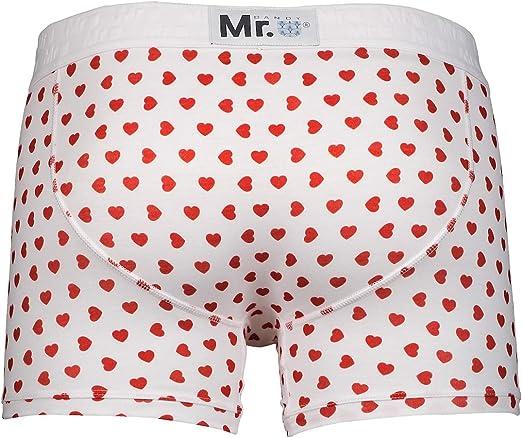 Dandy Collection Red Hearts MR.U Men Underwear Premium Cotton Boxer-Brief